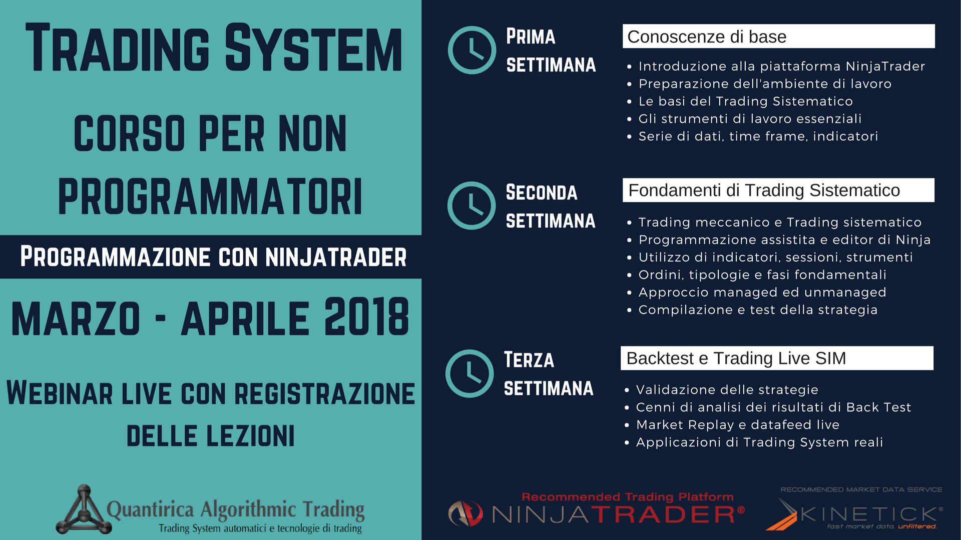 Corso trading system